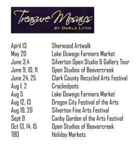 2017 Show Schedule
